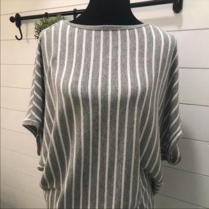 Michael Stars Striped Dolman Shirt sz L